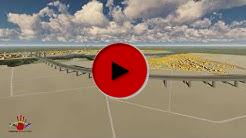 """Videosimulation der geplanten Rheinspange 553 in der Variante """"Nordtrasse""""."""